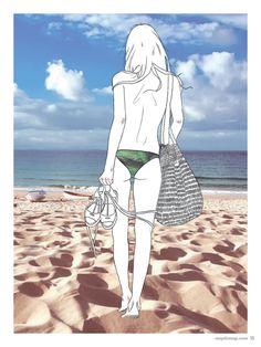no. 000 Música para un sueño de una noche de verano by Marta Pallares. Illustration: eme&mich #MapleMag #InherentNature