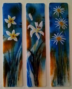 Vibrant Fused Glass Triptych