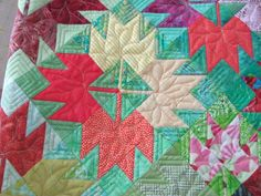 Maple Leaf quilt by Q Tailored Quilts