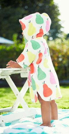 This toddler towel poncho from Mini Boden is too cute -- and perfect for lounging poolside. Mini Boden, Baby Boden, Baby Girls, My Baby Girl, Baby Baby, Fashion Kids, Toddler Towels, Baby Kind, Kid Styles