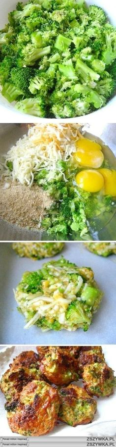 Broccoli Cheese Bites- no carbs and so yummy! Broccoli Cheese Bites- no carbs and so yummy! Veggie Dishes, Vegetable Recipes, Vegetarian Recipes, Pescatarian Recipes, Healthy Side Dishes, Broccoli Cheese Bites, Brocolli Cheese, Low Carb Recipes, Cooking Recipes