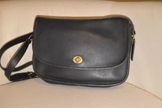 Vintage Coach City Bag in Navy Blue by TheAdventurersLegacy