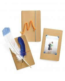 Transform a basic notebook into a special gift for Father's Day. ~ This originally appeared on Martha Stewart's site as a great Mother's Day gift but I think it would make just as nice a Father's Day one.