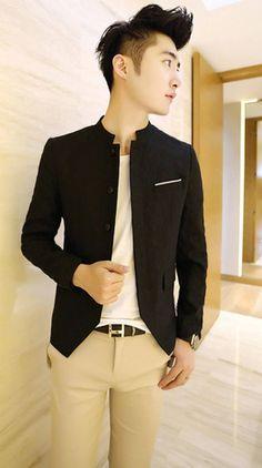 China collar Blazer #menstyle #overflows #formal #blazers #shoponline