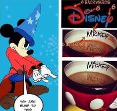Mickey is 'wicked'. As is Disney. As is the Illuminati. Disney Conspiracy Theories, Conspericy Theories, Illuminati Symbols, Disney Facts, Disney Memes, Weird Facts, Fun Facts, World History, Messages