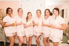 Photography: j-dphoto.com ~ Possibly the BEST bridesmaid gift idea - Piyama Maggie Pajama Sets in Magnolia Pink $49 ~ Shop the Piyama Bridal Boutique: www.etsy.com/au/shop/Piyama
