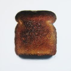"Acrylic on Canvas by Erin Rothstein, 48"" x 48"". New mission on GastroPost! #toast #painting #hyperrealism #burnttoast #breakfast #foodie #foodporn #art"