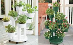 Tiered Self-Watering Planter