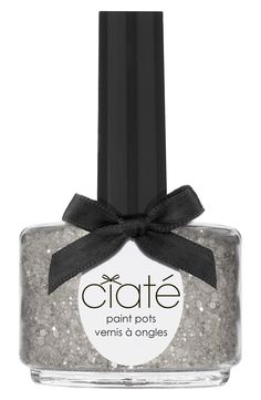 Love this sparkly silver nail polish for prom!
