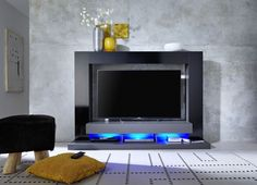 Tv Stand Furniture, Living Room Furniture, Living Rooms, Tv Stand With Led Lights, High Gloss Tv Unit, White Tv Unit, Cabinets For Sale, Stamford, Bathroom Interior Design