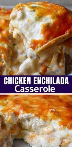 SOUR CREAM CHICKEN ENCHILADA CASSEROLE RECIPE