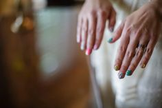 Nail Art Bride Bridal Whimsical Mountain Cabin Wedding North Carolina http://www.revivalphotography.com/
