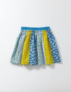With patchwork prints and a pretty gathered shape, this skirt is perfect for countryside adventures. It's in a lightweight fabric that's ideal for lazy, sunny days. An elasticated waistband means it's comfortable and easy to pull on, so there's more time for exploring. (Psst: have you seen the matching dress?)
