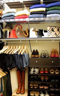 I reaaaaaly need to do this - Organize my closet - ugh!
