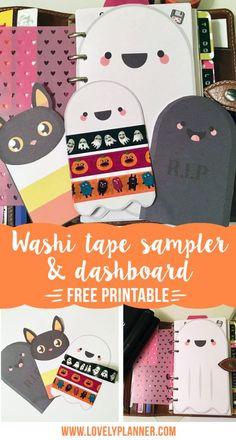 Free Halloween ones! Kawaii Planner, Happy Planner, 2016 Planner, Hourly Planner, Free Planner, Printable Planner Stickers, Free Printables, Planners, Washi Tape Crafts