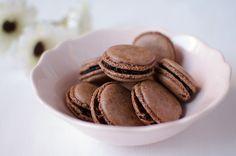 Sooooo for the chocolate lovers!: Chocolate macaron filled with chocolate ganache.