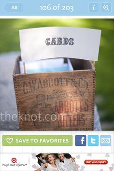 Rustic gift card box