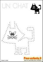 Jeux à imprimer maternelle jeu dessins A relier enfants de maternelle imprimer gratuitement dessin de chat gratuit