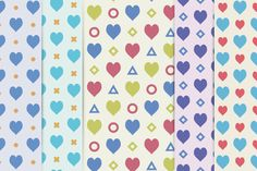 5 vector patterns withValentine's day style. Easily change colour and use…