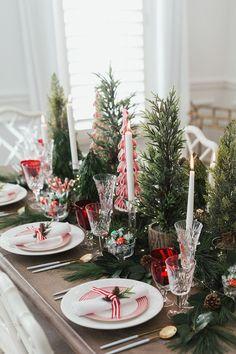 Indoor Christmas Decorations, Christmas Table Settings, Christmas Tablescapes, Christmas Themes, Christmas Holidays, Merry Christmas, Holiday Tablescape, Holiday Dinner, Cheap Christmas