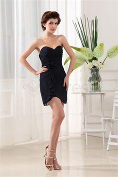 Sleeveless Sheath/ Column Short/ Mini Chiffon Silk-like Satin Homecoming Dress http://www.SzWedress.com/Sleeveless-Sheath-Column-Short-Mini-Chiffon-Silk-like-Satin-Homecoming-Dress-p19446.html