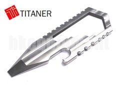 TITANER Titanium Bottle Opener Screwdriver Spanner Wrench Set Card Multi Tools uk.picclick.com