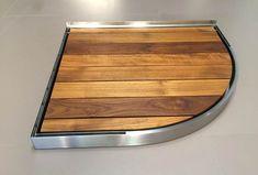 Piatto doccia filo pavimento con doghe in legno bagno in stile di