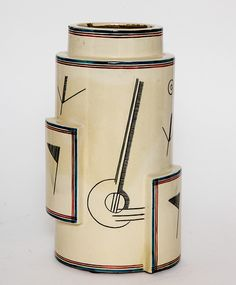 Robert Lallemant French Art Deco Ceramic Vase 1928