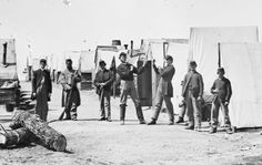 Soldiers boxing in a Union camp in Petersburg, Virginia, in April of 1865