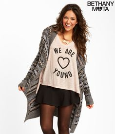 Fair Isle Cascade Cardigan from the new Bethany Mota Collection at Aeropostale