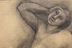Carlo Carrà, Figura semisdraiata appoggiata su un gomito [dettaglio]
