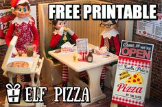 The North Pole's World Famous Pizza Winter Christmas, Christmas Holidays, Winter Holidays, World Famous Pizza, Elf On The Shelf, Elf Pets, Elf Magic, Naughty Elf, Buddy The Elf