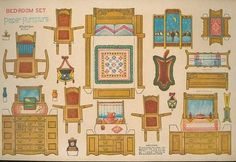 Uncut Paper Doll House Bedroom Furniture -McLoughlin (06/26/2009)