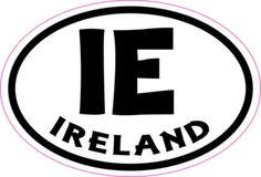 Oval IE Ireland sticker