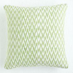 W7633Zigzag Green Ikat Pillow Pillows & Cushions