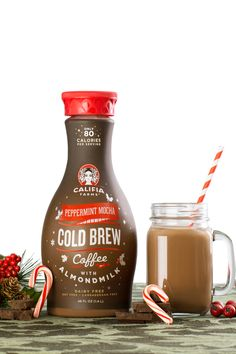 Please put your hands together for the newest seasonal member of the Califia family: Peppermint Mocha Almondmilk!   With hints of refreshing mint, bursts of chocolate and creamy Almondmilk, this bottle truly encapsulates what the holidays are all about! Bring the whole family together this season with this bottle of greatness.