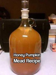 Howling Jack Honey Pumpkin Mead, for Samain. This really cool recipe calls for the mead to be fermented in a waxed pumpkin. Homemade Alcohol, Homemade Wine, Beer Brewing, Home Brewing, Jack Honey, Mead Wine, Mead Beer, Honey Mead, How To Make Mead