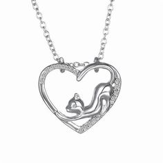 dc847f3fe Kitty Cat Stretching with Heart Necklace! Fashion Necklace, Fashion Jewelry,  Heart Shaped Necklace