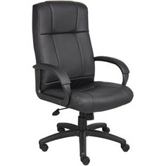 Boss Office Products Executive High-Back Office Chair, Black