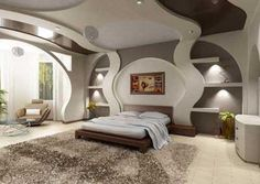 Awesome Futuristic Bedroom Interior Design You Can Try - My Dream House Elegant Home Decor, Home, Modern Bedroom Design, Elegant Homes, Bedroom False Ceiling Design, Awesome Bedrooms, House Interior, Futuristic Bedroom, Modern Bedroom
