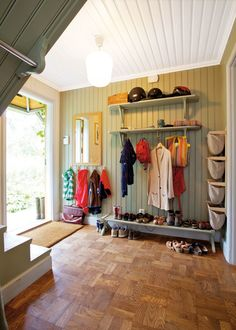 mud room / entrance - I think this would be doable in our house, some of the others are just way too fancy.