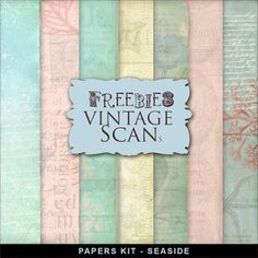 Far Far Hill - Free database of digital illustrations and papers: Freebies Vintage Style Backgrounds Kit - SeaSide