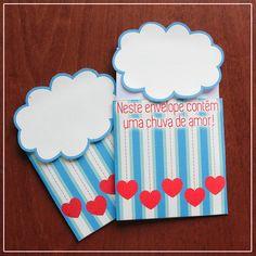 """DIY: Envelope criativo """"Chuva de Amor"""""""