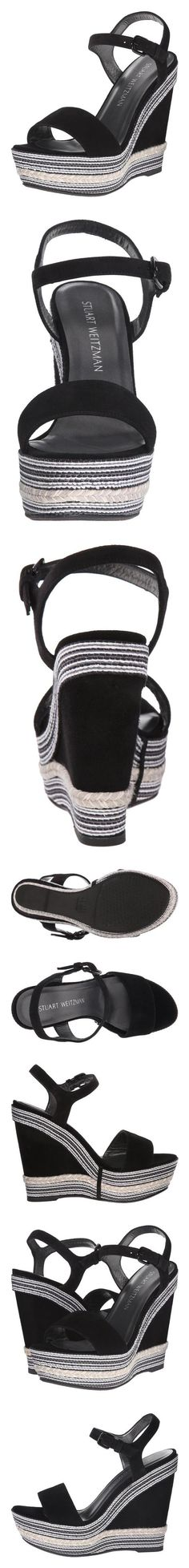 $435 - Stuart Weitzman Women's Single Wedge Sandal, Black, 10 M US #shoes #stuartweitzman #sandals