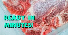 How To Thaw Meat In Minutes!