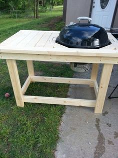 I got tired of not having a work table when I was grilling. I always had two grills side by...