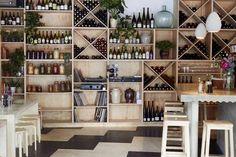 Ply shelves at Raw Duck in Hackney Hackney Central, Sisters Restaurant, London Fields, Eat Seasonal, European Home Decor, Kitchen Organization, Kitchen And Bath, Home Kitchens, Kitchen Design