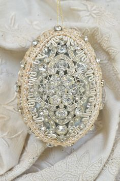 Pasimenterie Ornament with Edwardian jewels = Jill Garber Couture Pasimenterie Ornaments