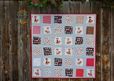 from the blue chair: The Fox Quilt Fox and Houndstooth fabric from Robert Kaufman. Available at Hawthorne threads