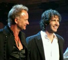 "Josh Groban ♥♥and Sting...my fav singers in the world...singing ""Shape of my heart"".."